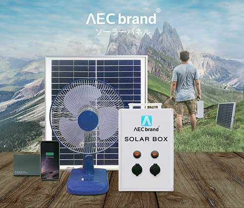 เครื่องปั่นไฟ-โซล่าเซลล์-พกพาได้-Solar-Box-ใช้เปิดพัดลม-ปั๊มน้ำ-และชาร์จมือถือได้-โดย-AEC-brand